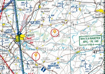 NOTAM axes de voltige hors terrain Cholet